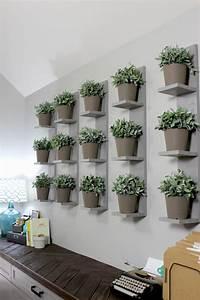 Wall-Mounted Plant Shelves DIY