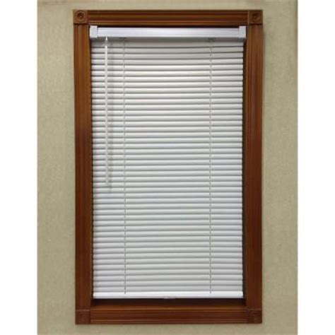 home depot mini blinds alabaster cordless 1 in mini blind 29 in w x 64 in l
