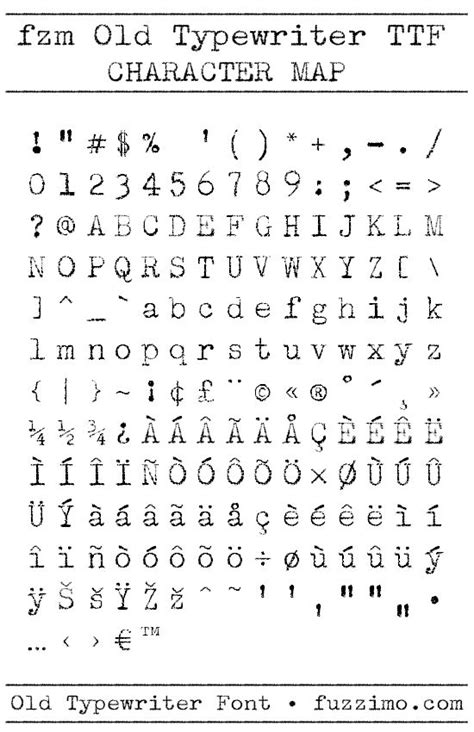 Free Old Typewriter Font from www.fuzzimo.com/free-old