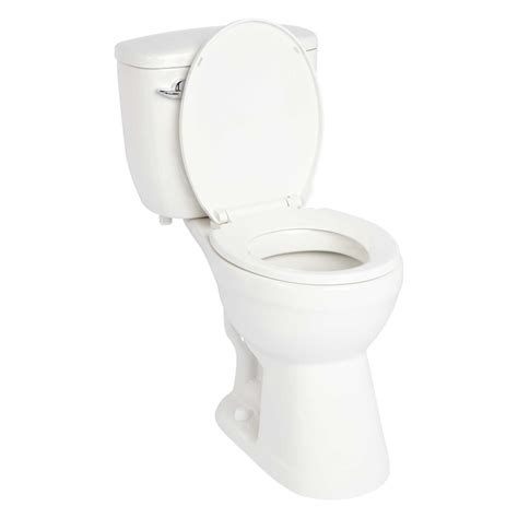 "Stalnaker Siphonic Two Piece Round Toilet 19"" Seat Height Toilets and Bidets Bathroom"