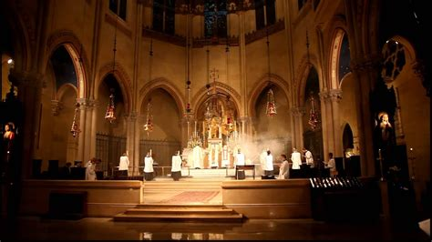 Mass at the Church of St Mary the Virgin New York City
