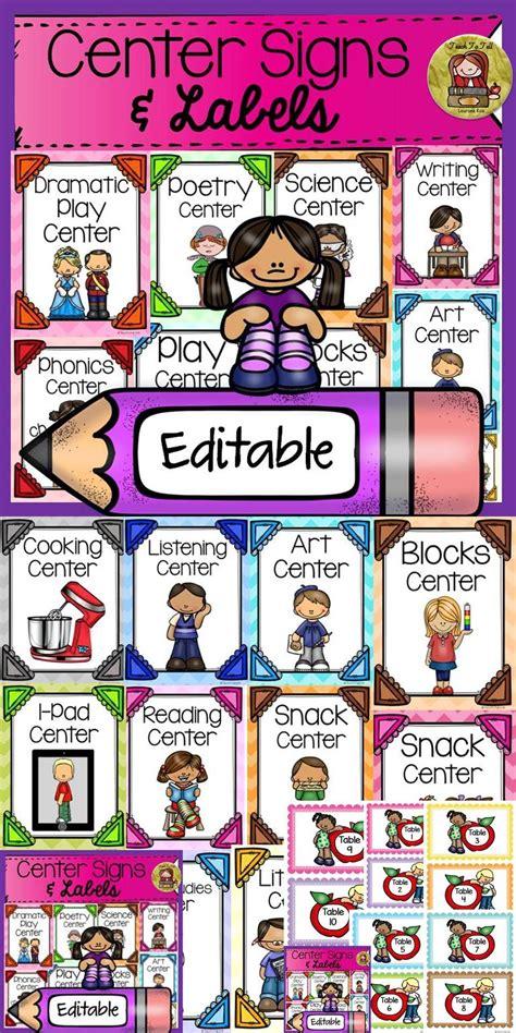 back to school editable classroom center signs amp labels 443 | c5f45eb4fd732d73a7dbd39b1fea8157