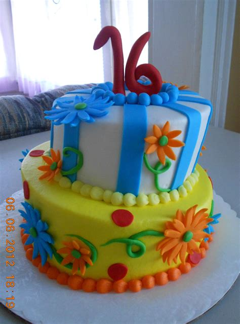 Tips for decorating baby's first birthday cake. A birthday cake I made for a 16 year old girl.   Birthday Cakes   Pinterest   Birthday cakes ...