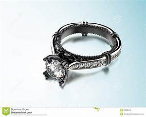 Golden Engagement Ring With Diamond Or Moissanite. Jewelry ...