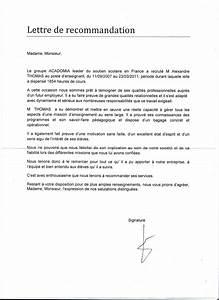 Lettre 48 Si Jamais Recu : comment r diger une lettre de recommandation ~ Medecine-chirurgie-esthetiques.com Avis de Voitures