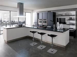 Ilot Bar Cuisine : cuisine ouverte avec ilot bar cuisine en image ~ Melissatoandfro.com Idées de Décoration