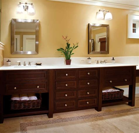 bathroom cabinetry ideas wooden custom bathroom vanity cabinets white granite top