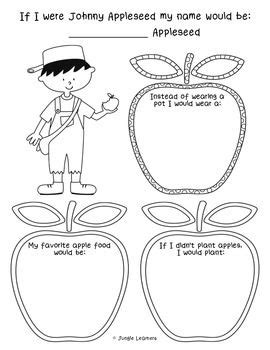 If I Were Johnny Appleseed {Freebie} | Apple seeds, Johnny ...