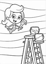 Bubble Guppies Pages Coloring Printable Colouring Print Molly sketch template