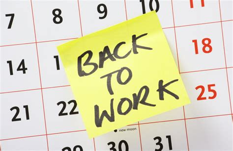 Work Resumes After Holidays by Returning To Work After A Career Advice Tips And