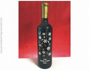custom engraved wine bottles christmas holidays With customize wine bottles
