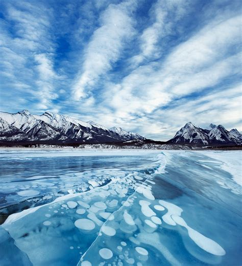 Stunning Bubbles Frozen Under Lake Abraham | Travel ...