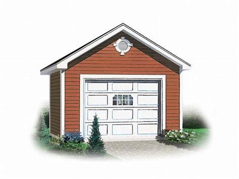 Detached 1-car Garage Plan # 028g