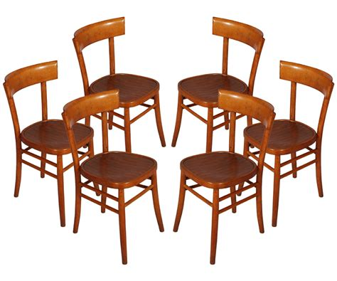 Poltrone Anni 50 Ebay : Set 6 Chairs Vintage Years'50 Isa Bergamo Six Chairs Mid