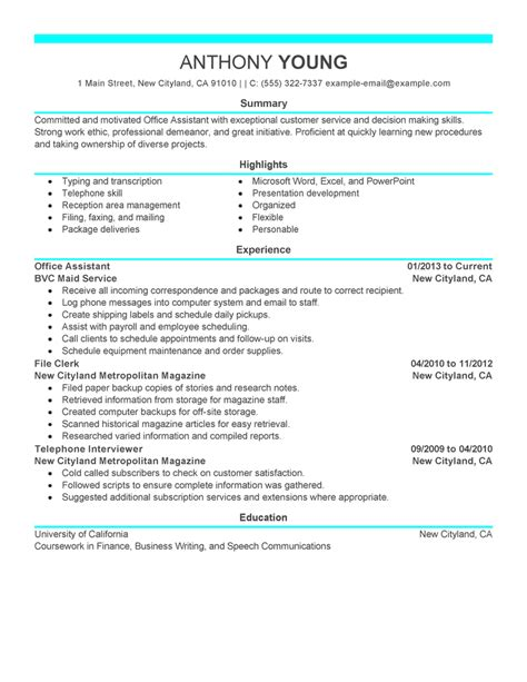 office professional resume objective resume office administrator resume sles list of administrative duties for resume list