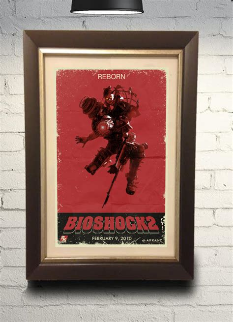 Bioshock 2 Big Sister Little Sister Grindhouse Style Retro