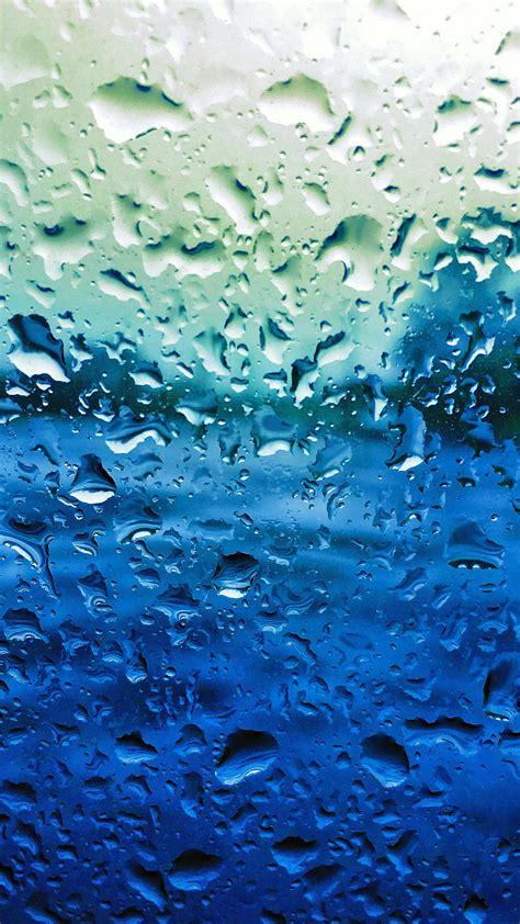 papersco iphone wallpaper vr rain drop window blue