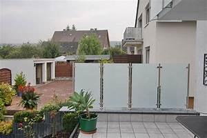 Sichtschutz Balkon Glas : windschutz und sichtschutz aus edelstahl mit sicherheitsglas ~ Indierocktalk.com Haus und Dekorationen