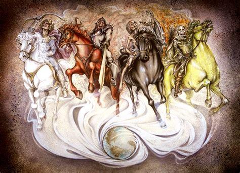 horsemen apocalypse four revelation horseman bible horses horse biblical jesus antichrist music apocalipsis death zechariah apocalisse riders fourth seven seals