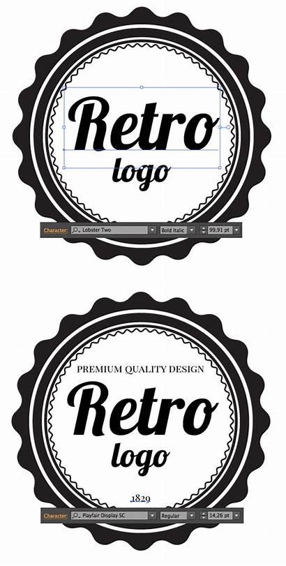 Retro Blurred Background Illustrator Create Adobe Logotype