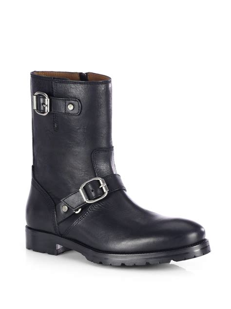 biker boots for jimmy choo stanford leather biker boots in black for