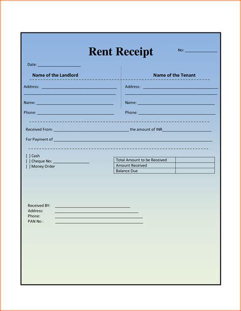free rent receipt template bamboodownunder