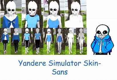 Yandere Simulator Sans Skin Sim Characters Imaginaryalchemist