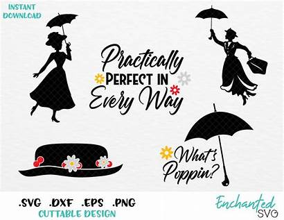 Mary Poppins Svg Perfect Practically Inspired Esp
