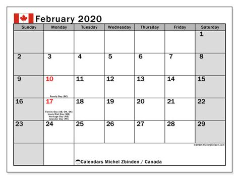 february calendar canada michel zbinden en