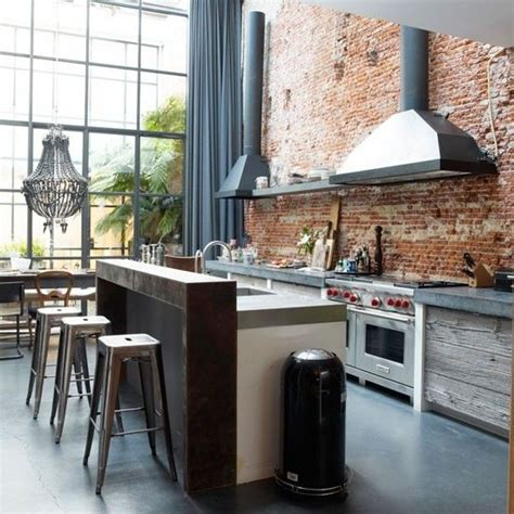 industrial style kitchen islands best 25 rustic industrial kitchens ideas on