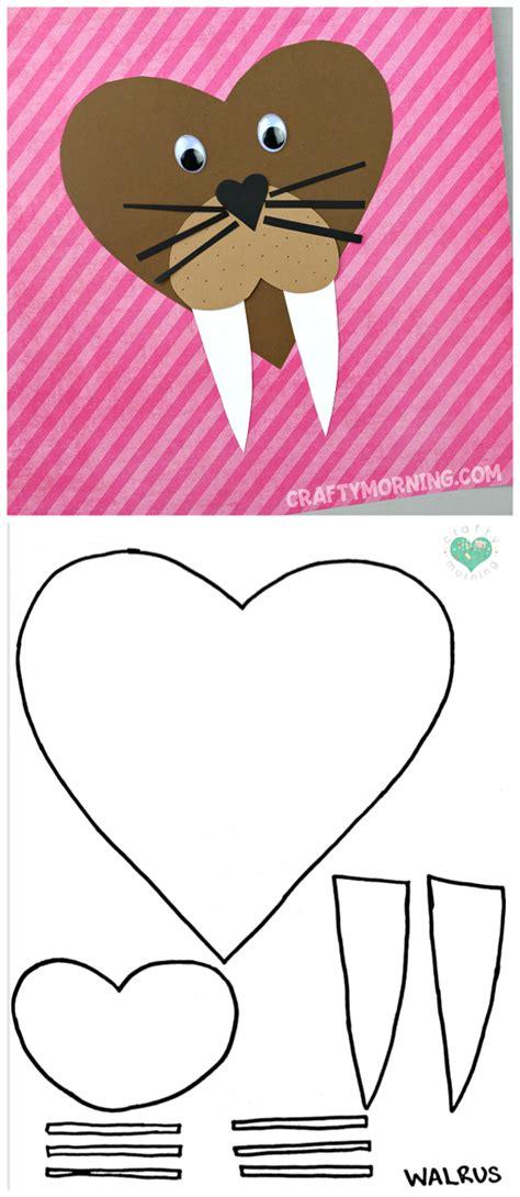 Heart shaped elephant craft template maxwellsz