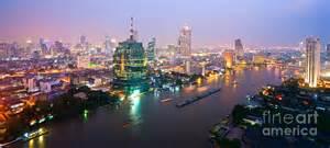 Skyline Curtains by Bangkok Skyline Thailand Photograph By Luciano Mortula