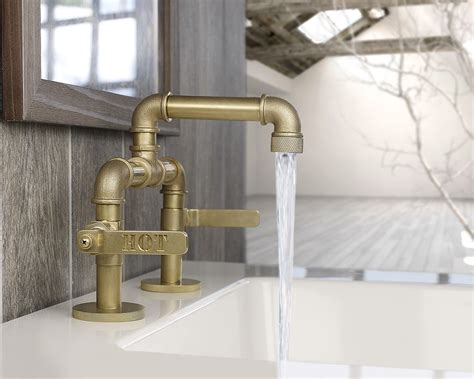 bathroom and kitchen faucets industrial style faucets by watermark to give your