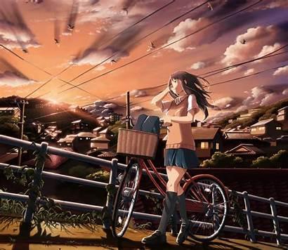 Anime Uniform Characters Background Desktop Sunset Wallhaven