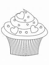 Cupcake Cupcakes Ausmalbilder Kleurplaat Kleurplaten Coloring Kawaii Valentijn Coloriage Colorear Dibujos Malvorlagen Bonitos Adult Pintura Bordados Gratis Drawing Printable Moldes sketch template
