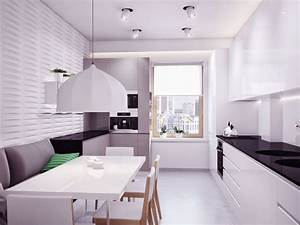 Modern black white kitchen furniture sets with dining for Kitchen furniture ukraine