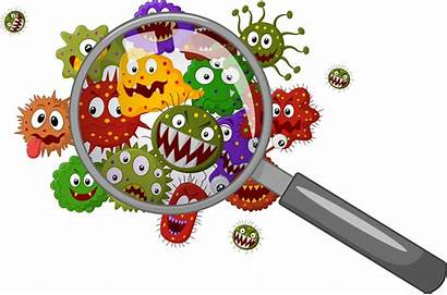 Contamination Cross Cleaning Office Dangers Cartoon Bacteria