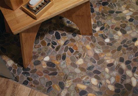earthy blend river pebble colortile bend oregon flooring