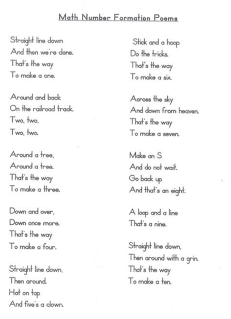 number formation poems lovetoteachorg