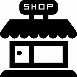 Shop store frontal building - Free commerce icons