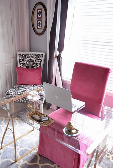 pink office chairs  girl homemydesign