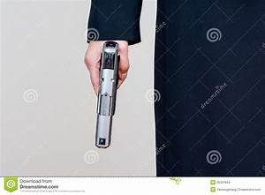 Woman Holding A Hand Gun Stock Images - Image: 35337844