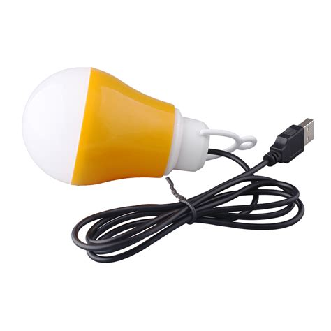dc 5v 5w portable led bulb usb power energy saving reading