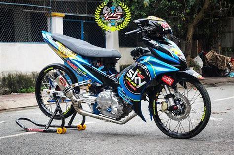 Modifikasi Jupiter Mx Ala by Jupiter Mx Ala Drag Bike Livery Sky Racing Team Vr46 Ikut