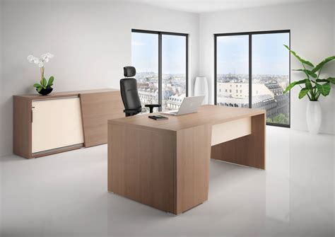 images bureau bureau direction b select coloris bois cèdre et table de