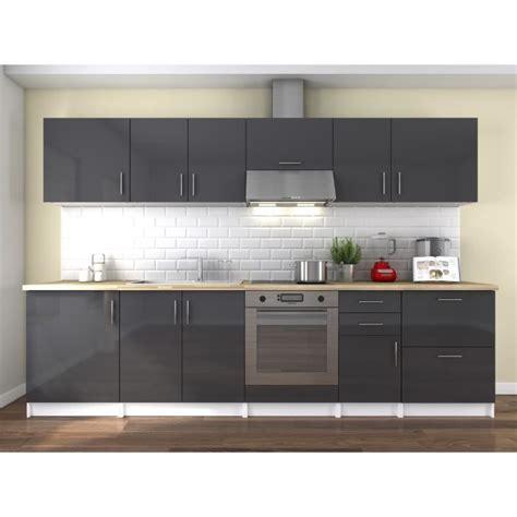 cuisine 3m de neo cuisine complète 3m laqué gris haute brillance achat vente cuisine complète neo