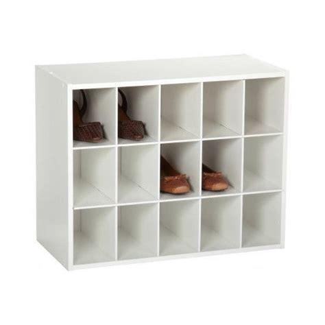 Stackable Shoe Organizer White Bedroom Storage Closetmaid