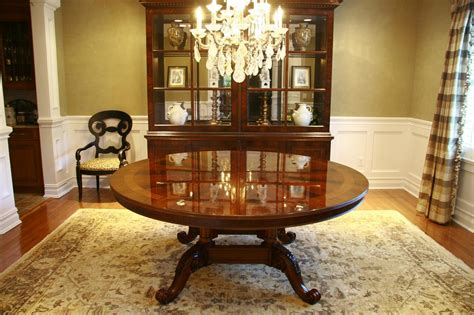 high round dining table 72 034 high end round mahogany dining table antique