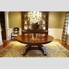 72 034 High End Round Mahogany Dining Table Antique