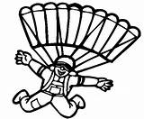 Parachute Coloring Pages Favourite Children Fun sketch template